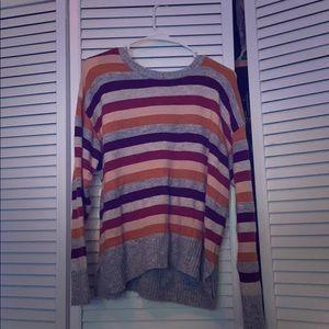 Fall colored striped sweater